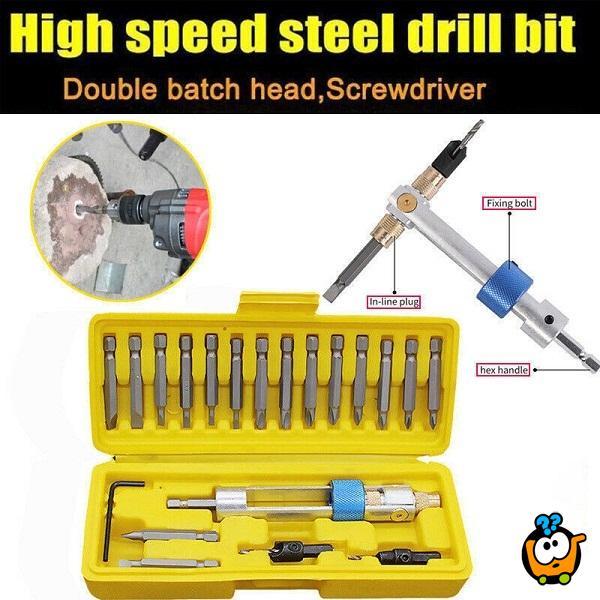 Half Time Drill Driver - 20 u 1 set za brzo bušenje i šrafljenje