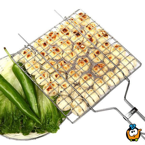 Zatvorena rešetka za roštilj - za jednostavno pečenje i rotiranje hrane