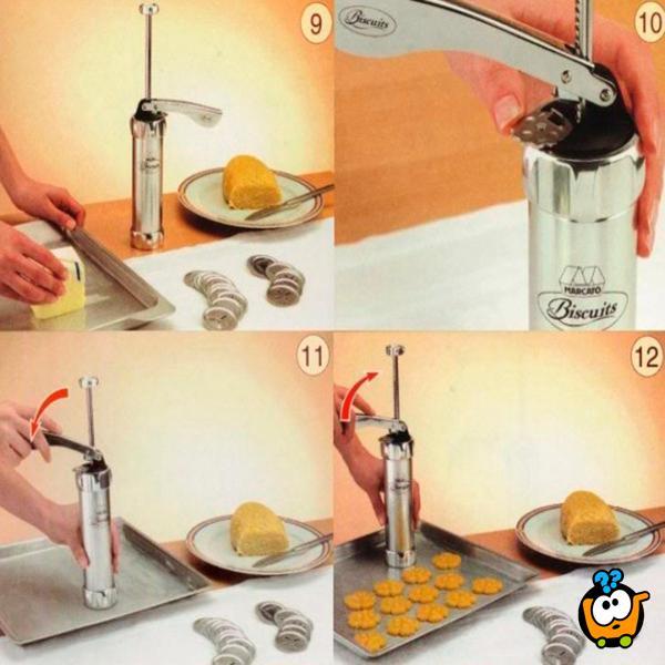 Biscuit baking mould – Dozer za kolače sa 20 različitih oblika
