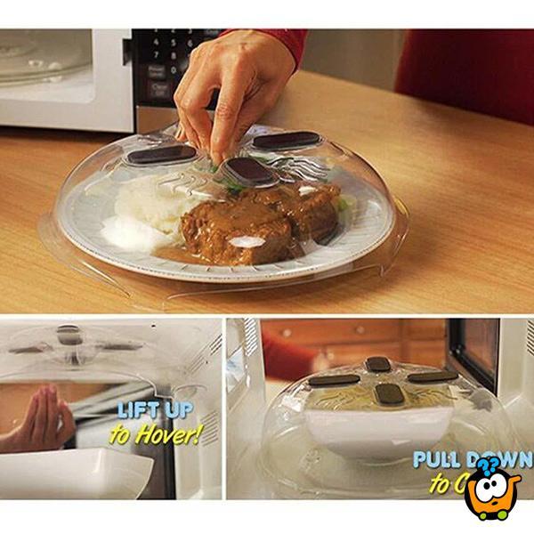 Hover cover - Magnetni poklopac za podgrevanje obroka bez fleka