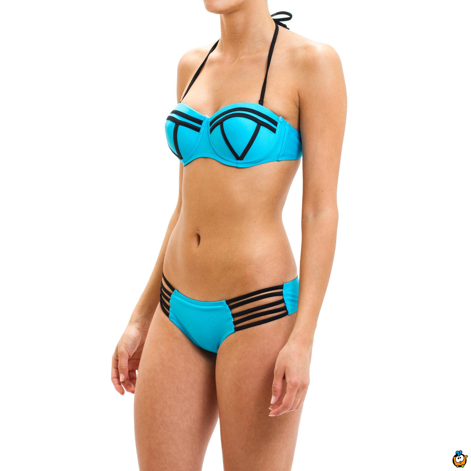 Dvodelni ženski kupaći kostim - SUPER GIRL BLUE