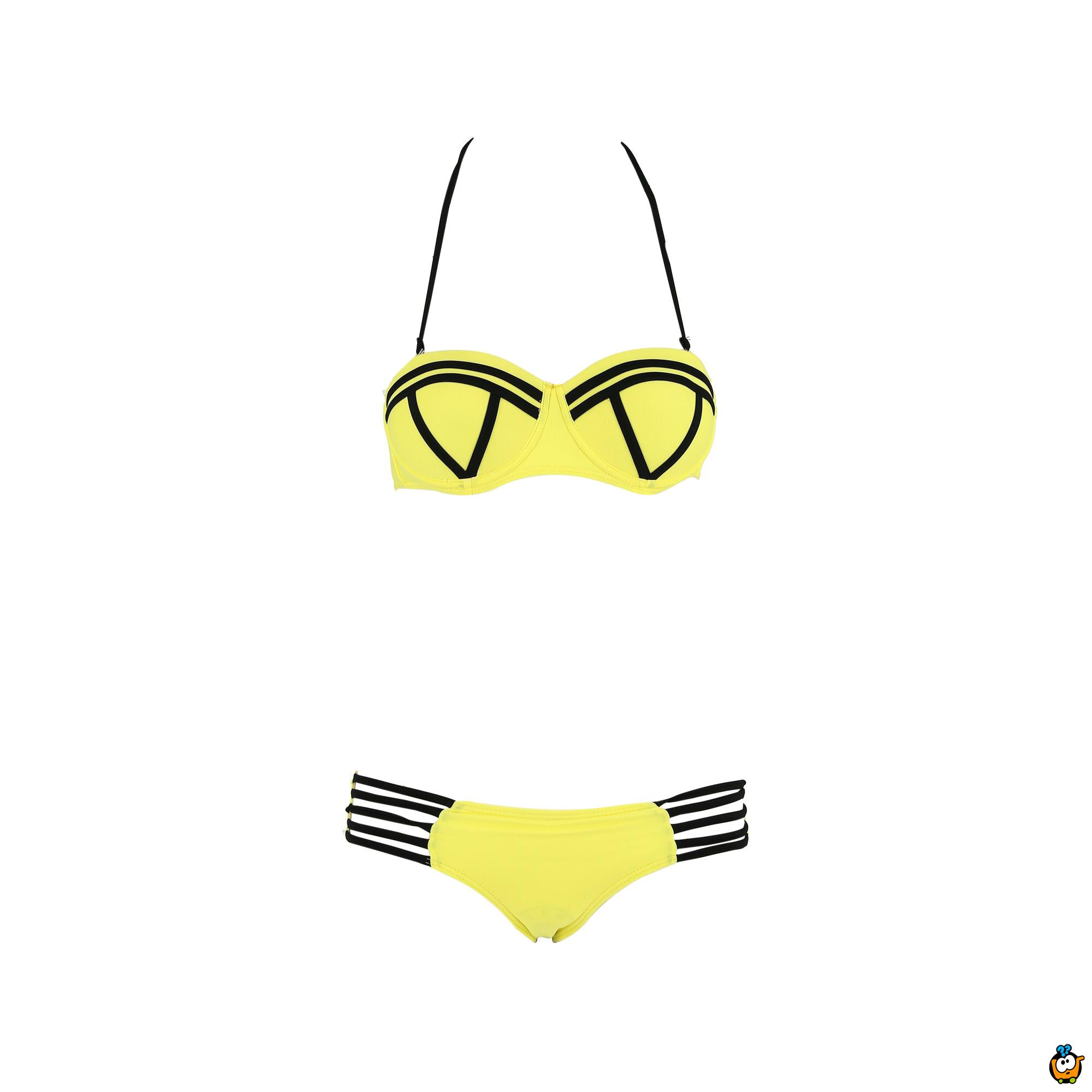 Dvodelni ženski kupaći kostim - SUPER GIRL YELLOW