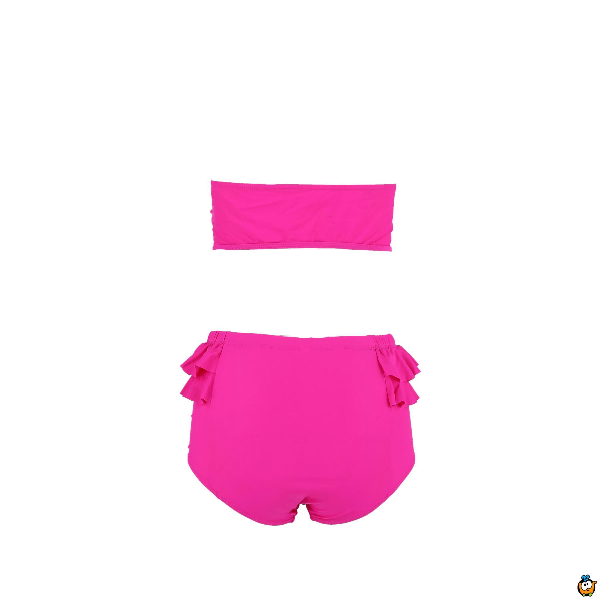Dvodelni ženski kupaći kostim - PLUS SIZE -  TUFFY PINK