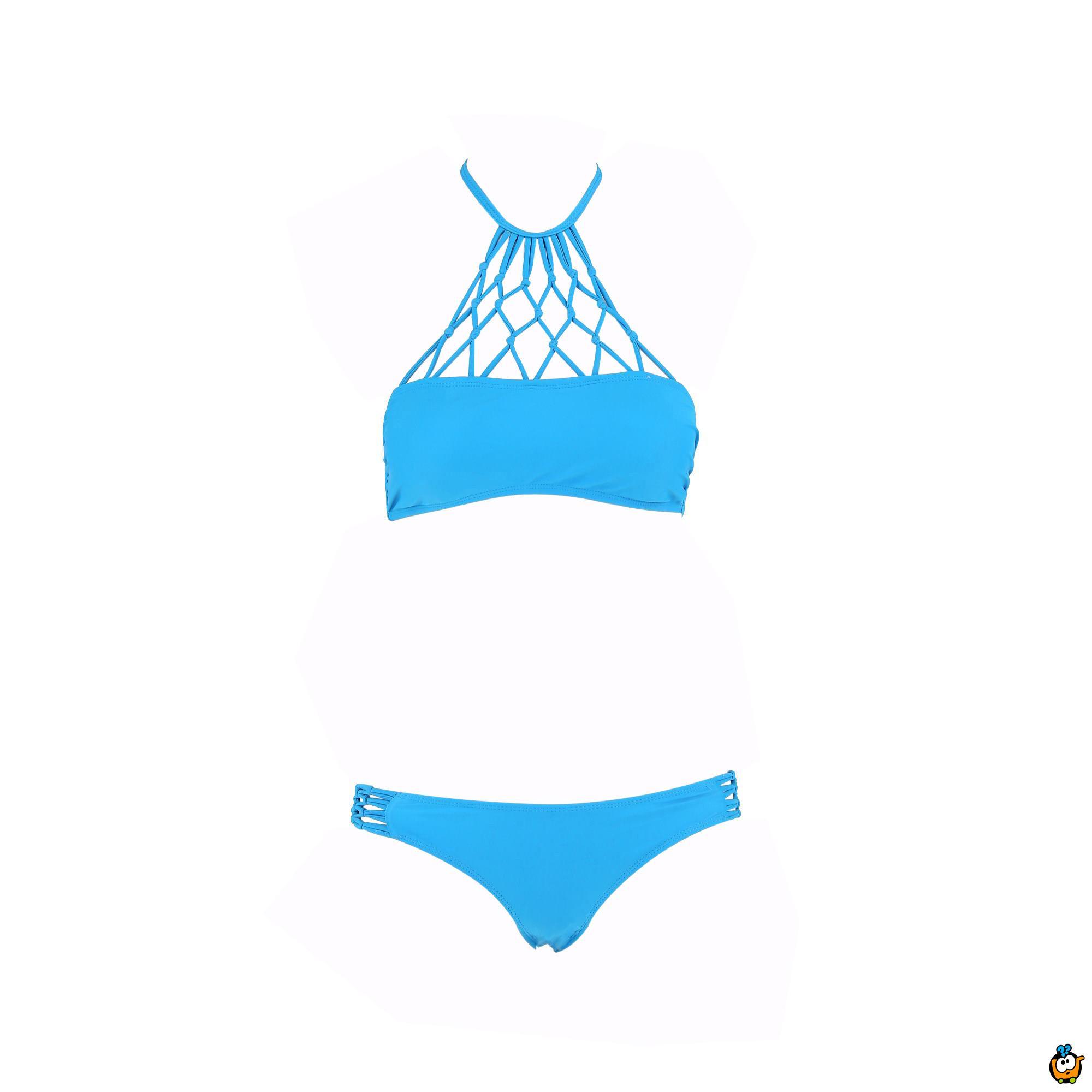 Dvodelni ženski kupaći kostim - SUPERMESH BLUE