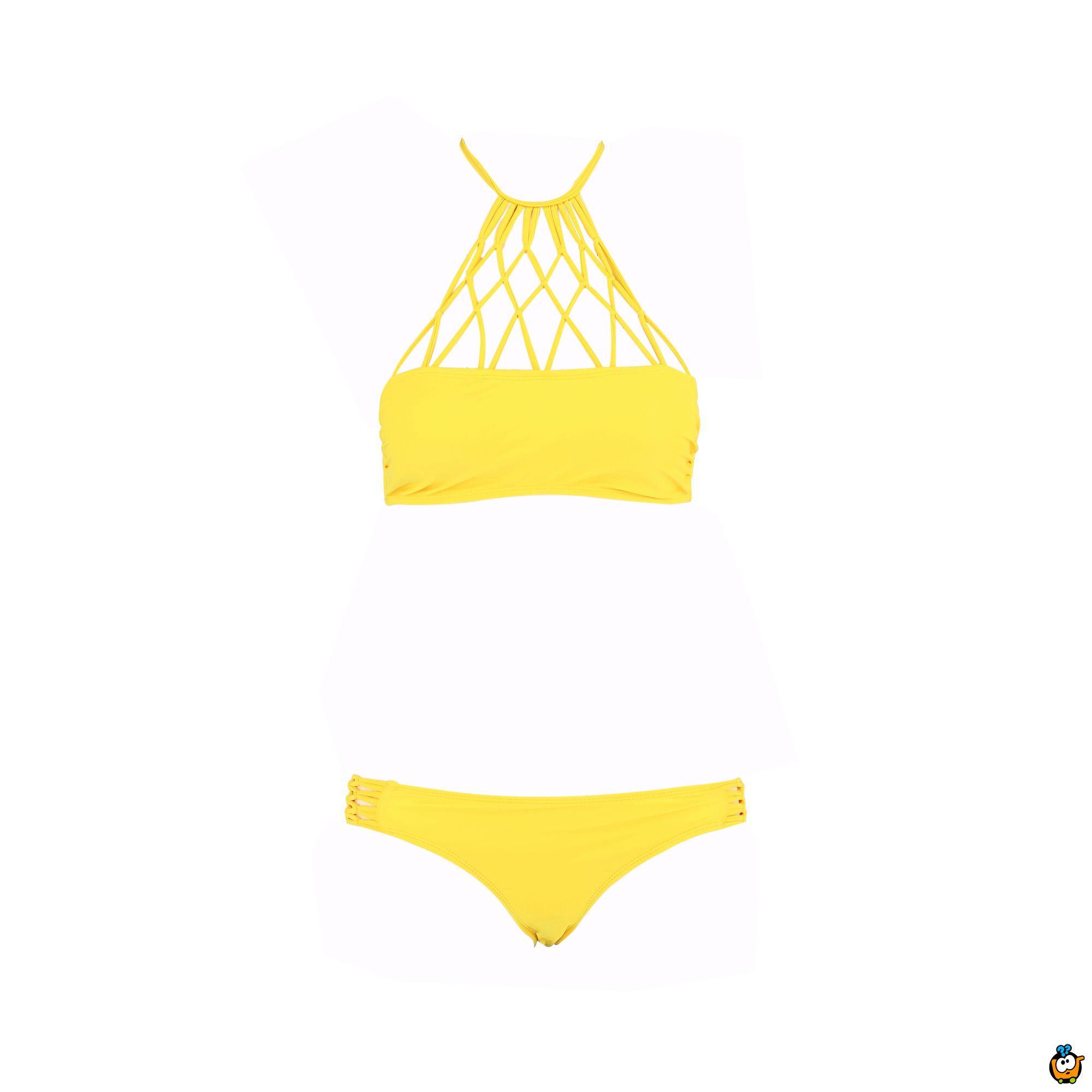 Dvodelni ženski kupaći kostim - SUPERMESH YELLOW