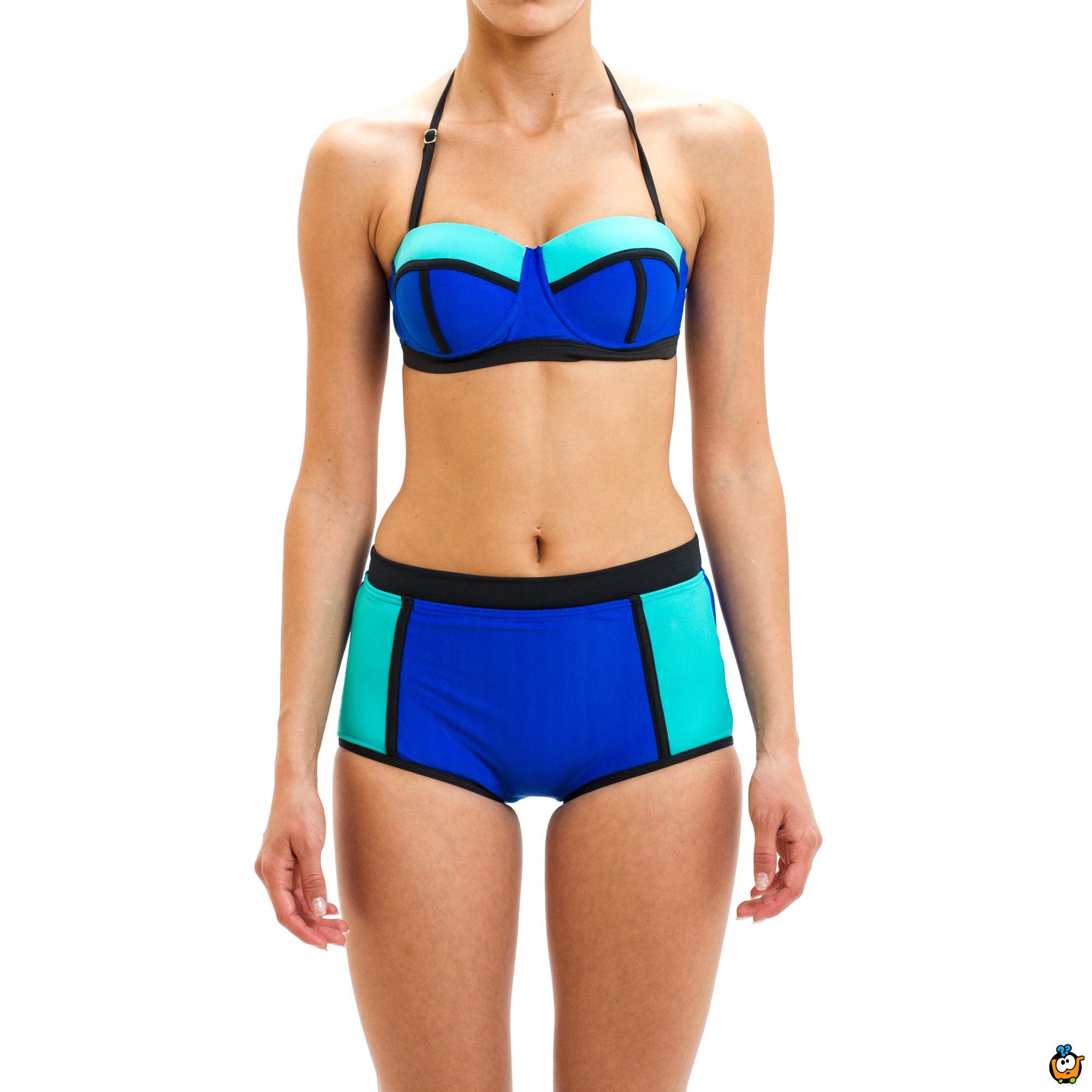 Dvodelni ženski kupaći kostim - LINES MIX GREEN