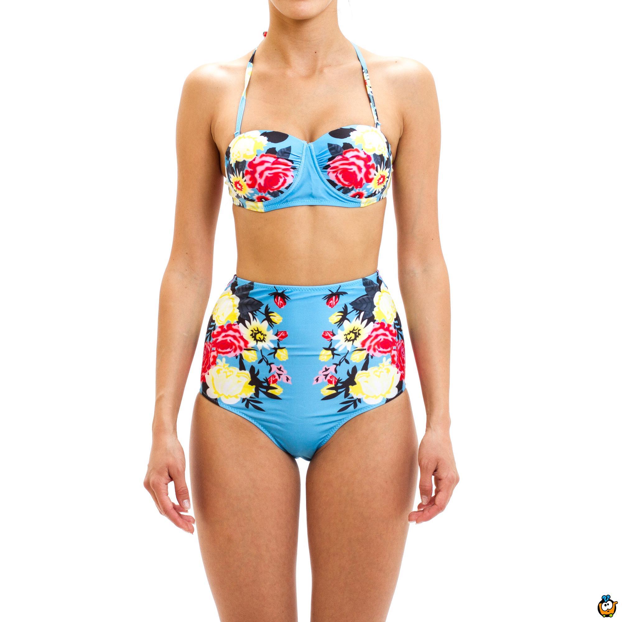 Dvodelni ženski kupaći kostim - RETRO  FLOW LAKE BLUE