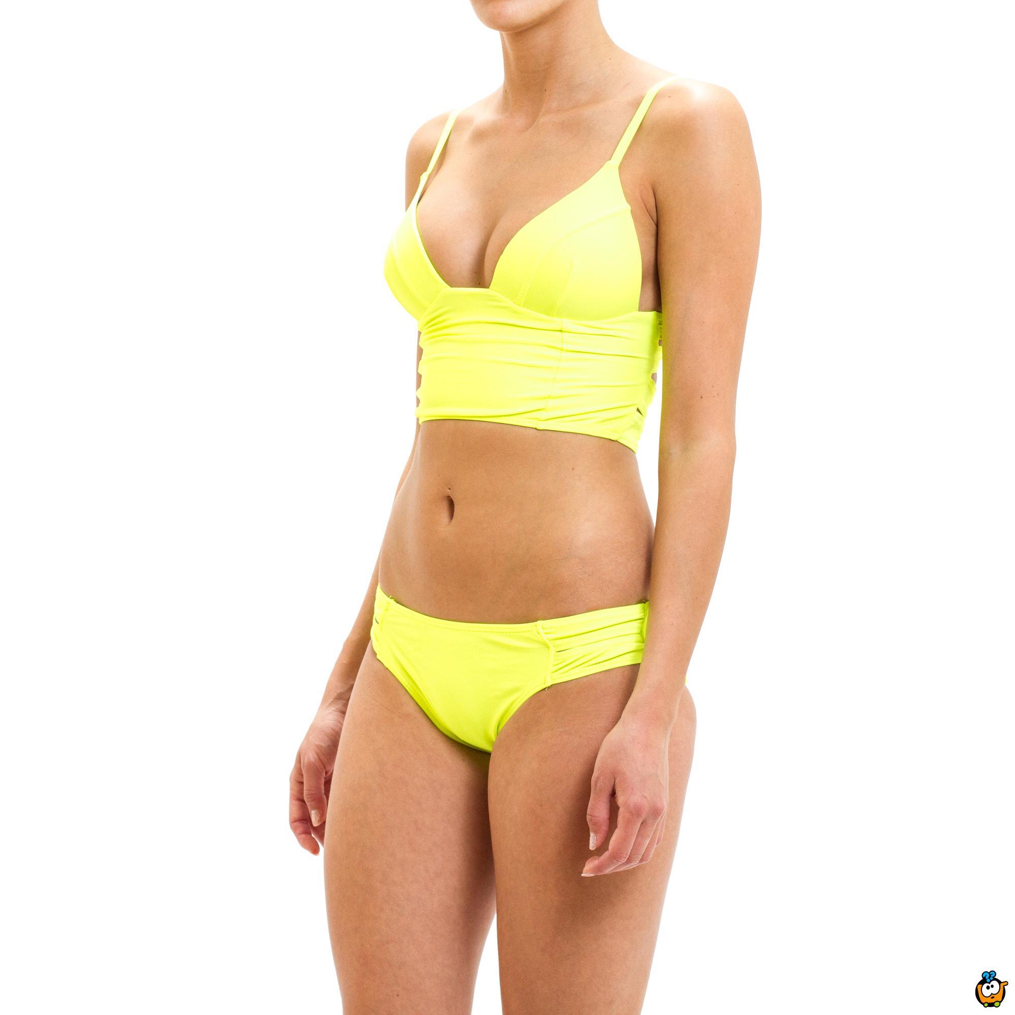 Dvodelni ženski kupaći kostim - FACE TOP GREEN