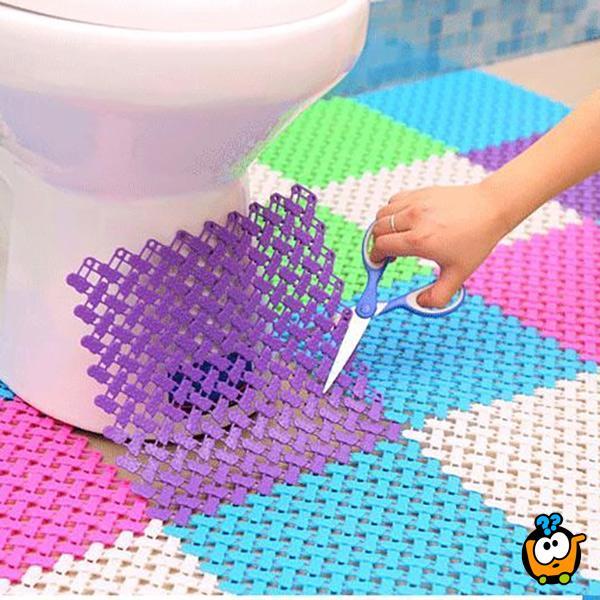 Neklizajući masažni pod za kupatilo, tuš kabinu, kuhinju 25x25 cm