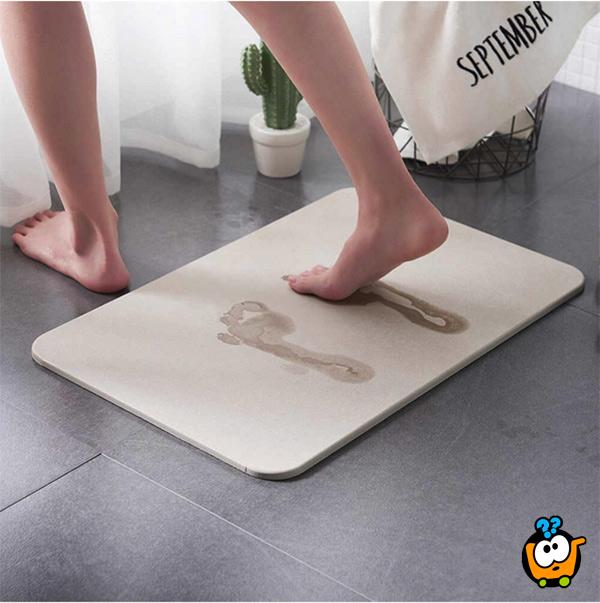 Diatom Bathroom Mat - Magična brzosušeća podna prostirka za kupatilo