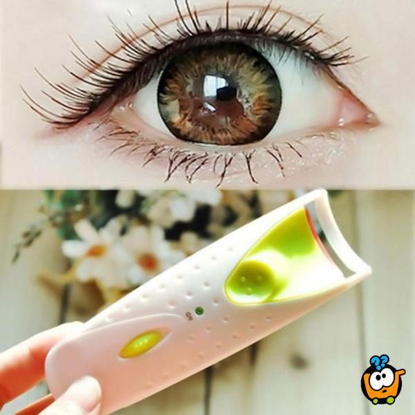Electric eyelash curler - Električni uvijač trepavica