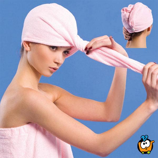 Magičan peškir za brzo sušenje kose