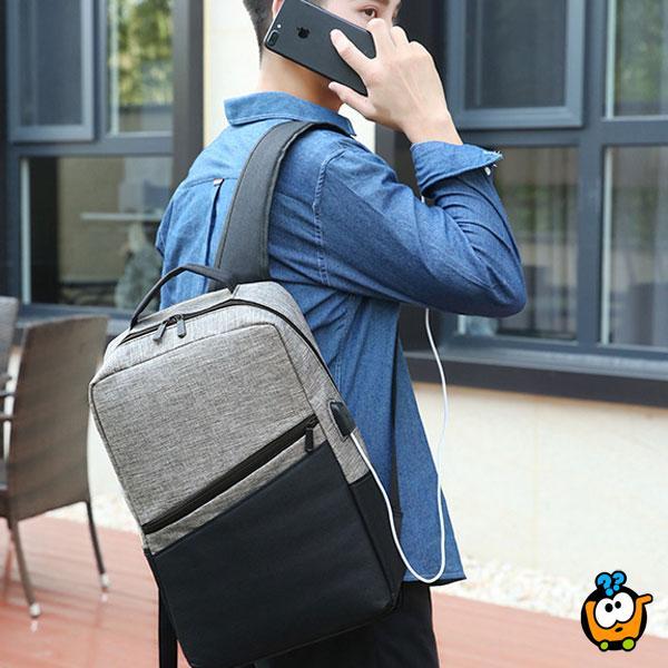 Laptop Backpack set - muški ranac+torbica+neseser