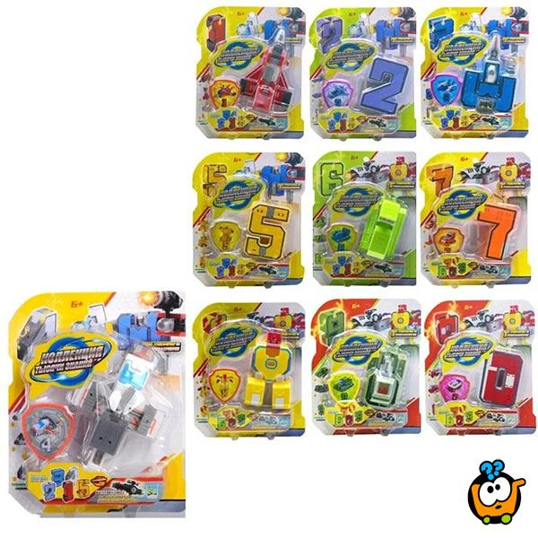 Number Robot Transformers - Sklopiva džepna igračka robot-brojevi
