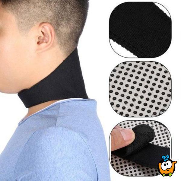 Samo-grejuća magnetna potpora za vrat
