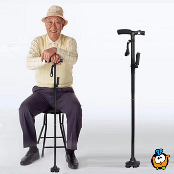 Trusty CANE - štap sa stabilnim osloncem, sa svetiljkom