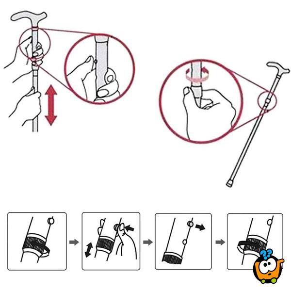 Trusty CANE - štap sa stabilnim osloncem