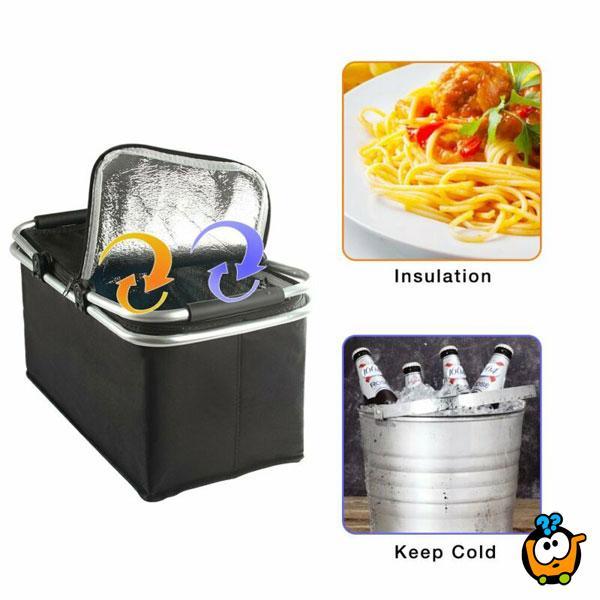 Prenosiva korpa za piknik sa termoizolacijom