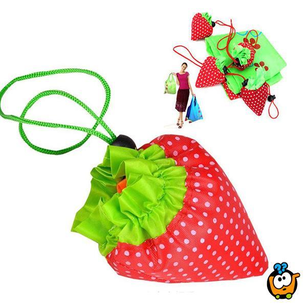 Torbica jagodica - sklopiva vreća za šoping