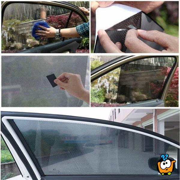 Mrežasta folija za zaštitu prozora automobila od sunca