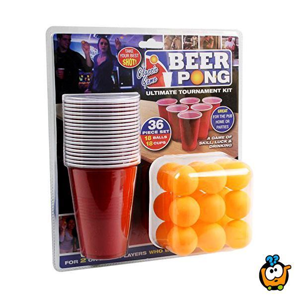 Beer Pong igra sa omiljenim pićem