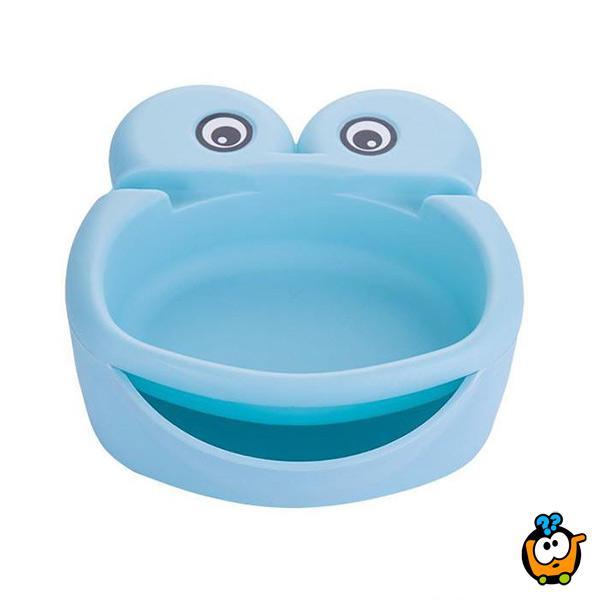 Lazy Frog činija-žabica sa pregradama za hranu i telefon