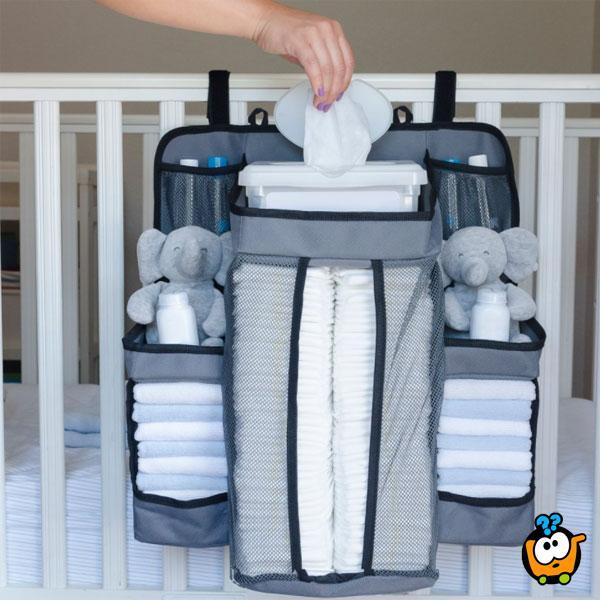 Viseća torba za pelene i bebi opremu
