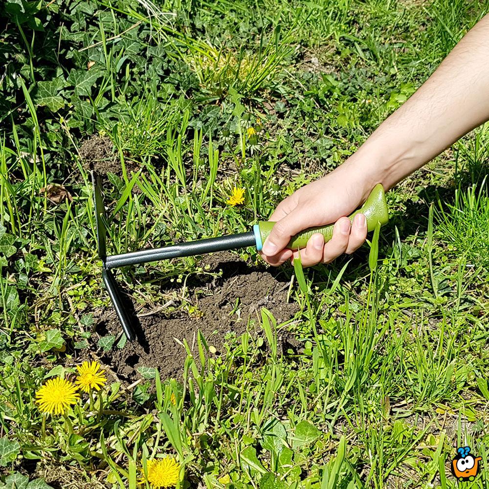 Mala kombinovana metalna motika za baštu