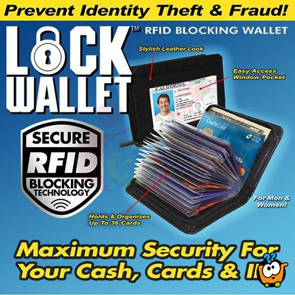 Lock Wallet - Fantastičan novčanik sa zipom