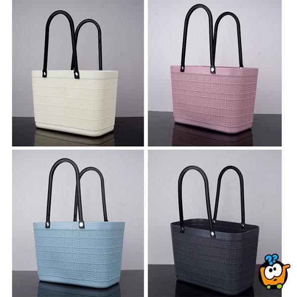 Plastificirana ženska torba za šoping, plažu i šetnju