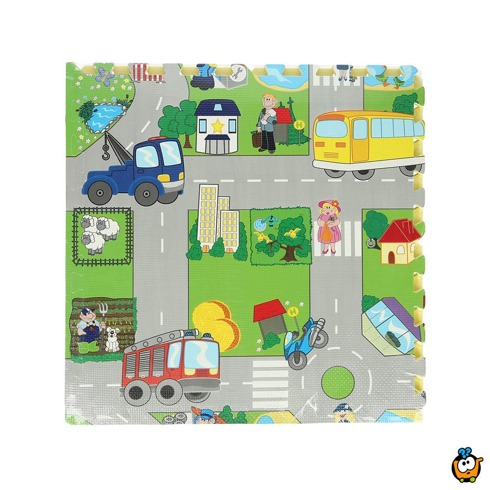 Dečije BIG podne slagalice za igru - Gužva u saobraćaju 4 kom 61 x 61 cm