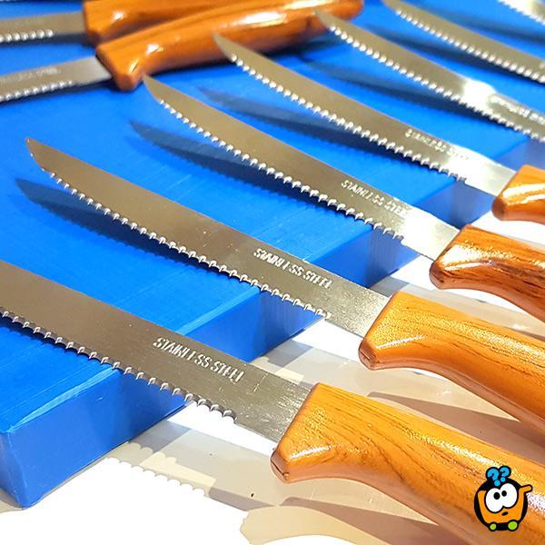 Set od 12 reckastih noževa za ručavanje