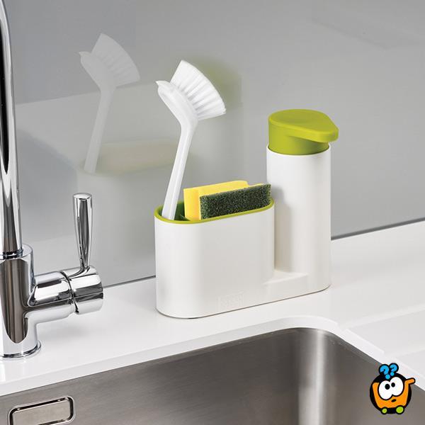 Sink Organizer 3u1 - Dispenzer za tečni sapun sa predradama za uredan prostor