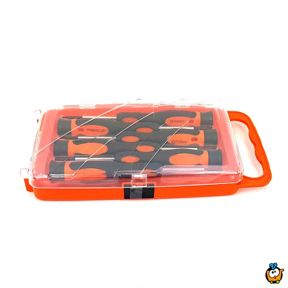 Precizan set od 6 torex šrafcigera sa magnetnim vrhom u koferčetu