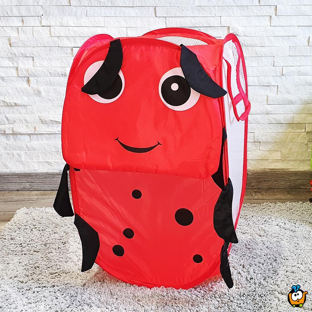Animal toy bag - Sklopiva korpa za igračke u obliku Bubamare