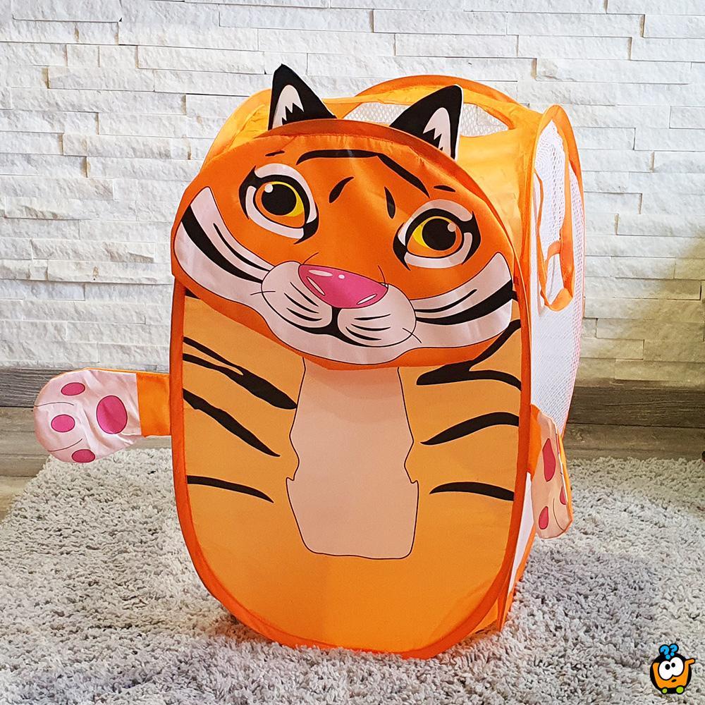 Animal toy bag - Sklopiva korpa za igračke u obliku Tigrića