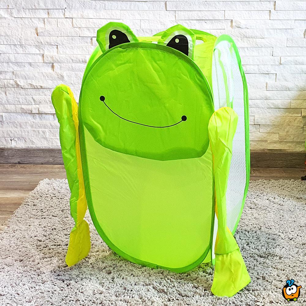 Animal toy bag - Sklopiva korpa za igračke u obliku Žabca