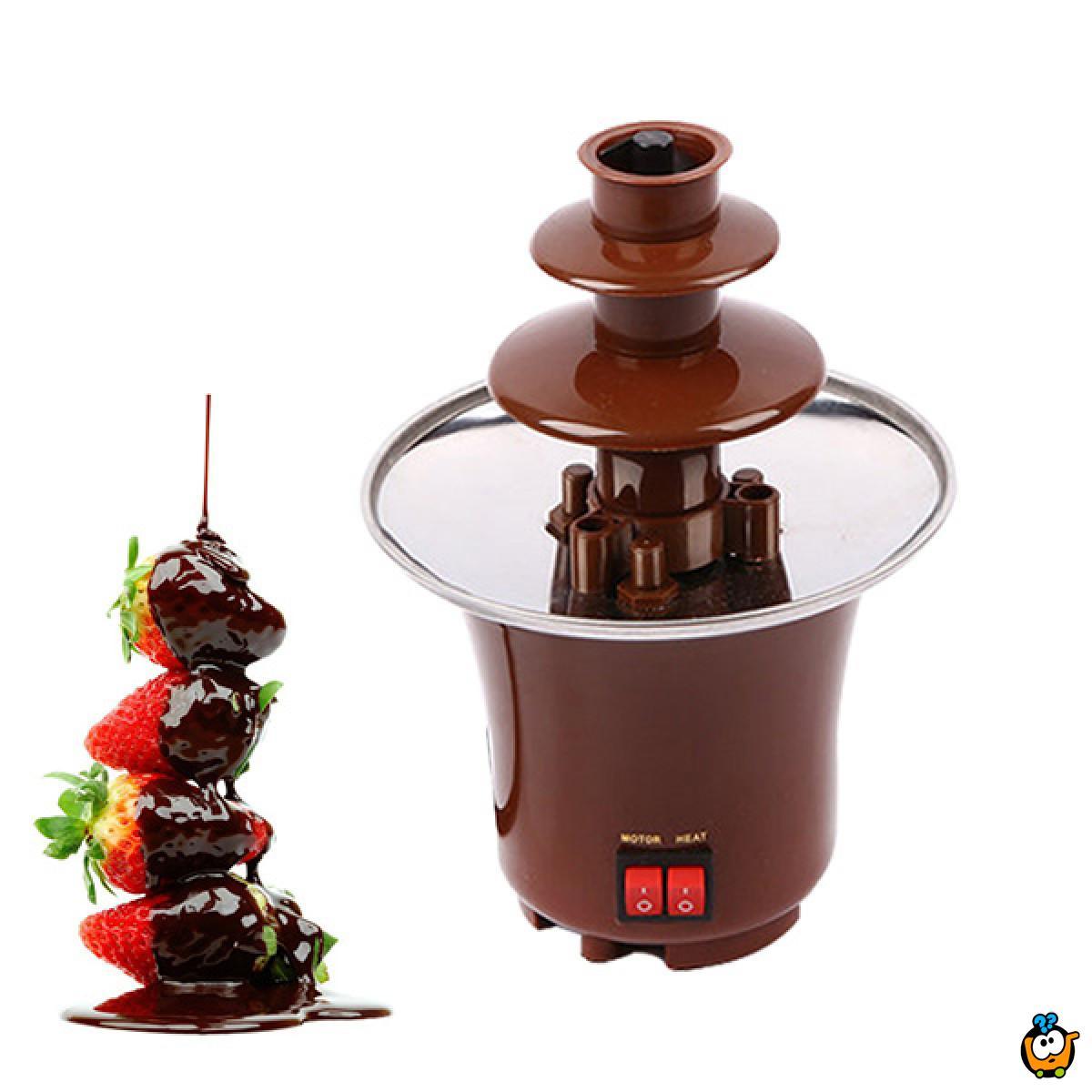 Čokoladna fontana sa 3 nivoa