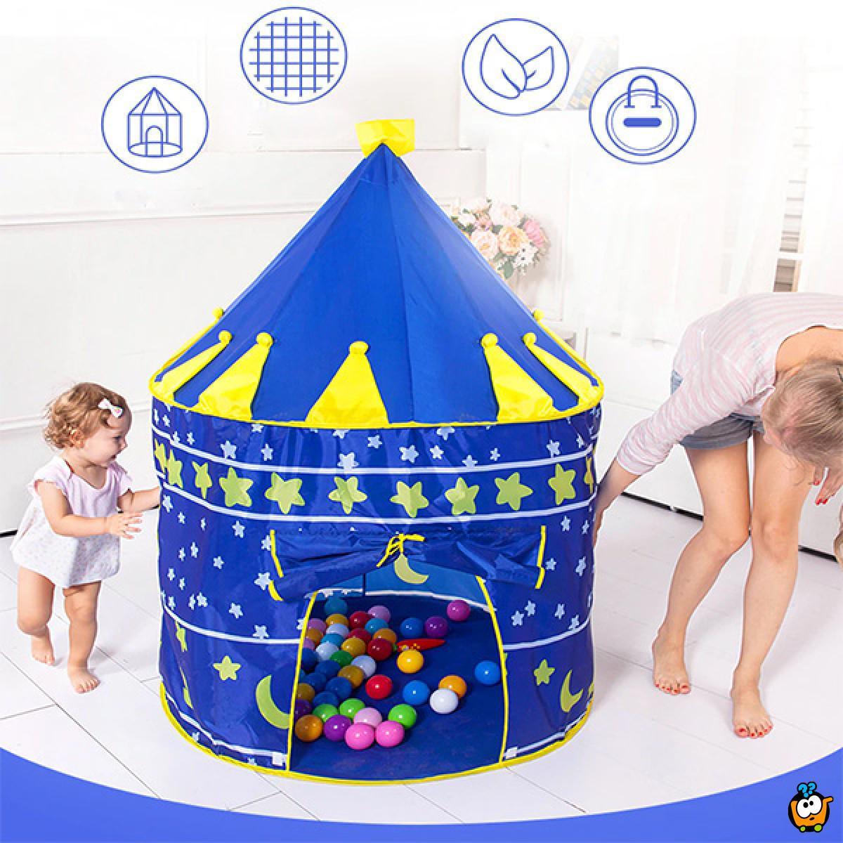 Šator igraonica za male heroje u obliku dvorca