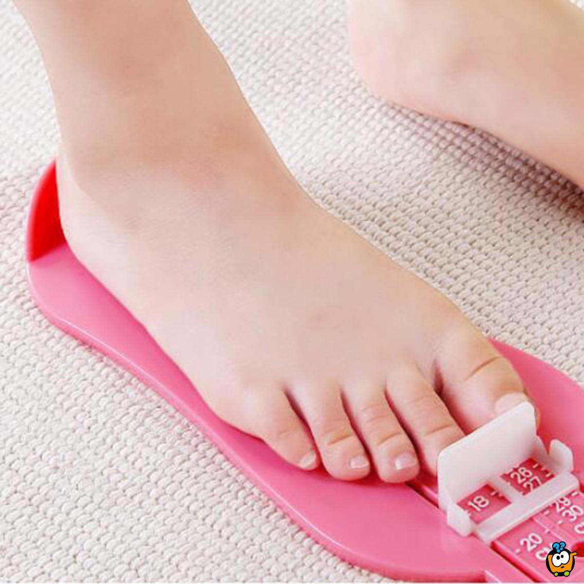 Uložak za merenje dužine stopala kod dece