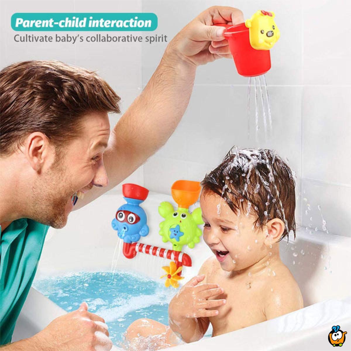 Tub Octopus & Crabs Bath Toy - Interaktivna igračka za kadu i kupanje dece