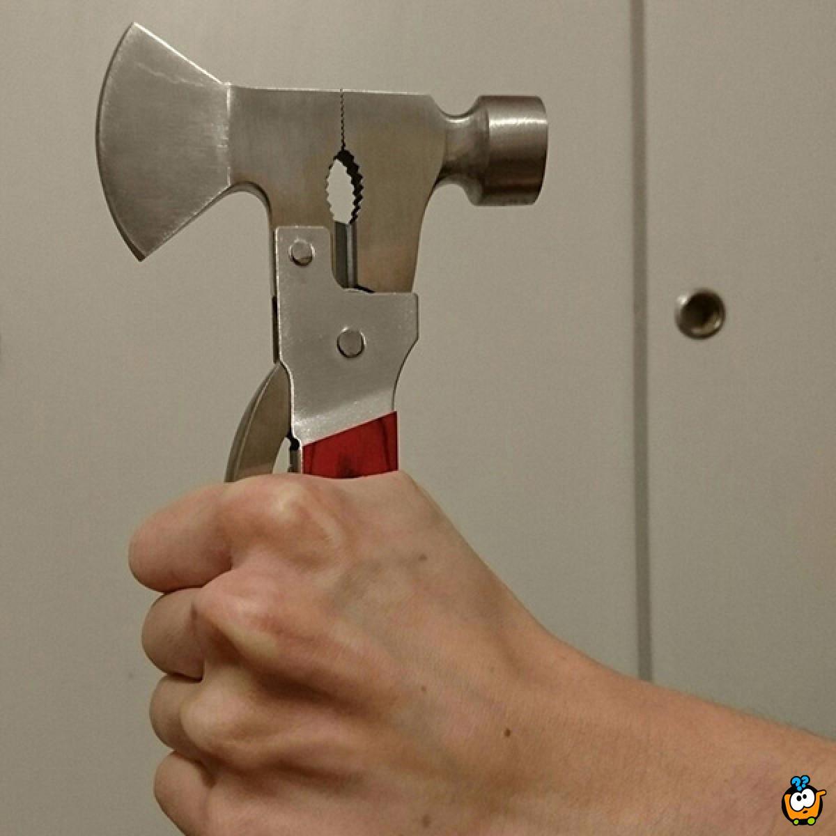 Multifunkcionalni sklopivi alat u obliku čekića