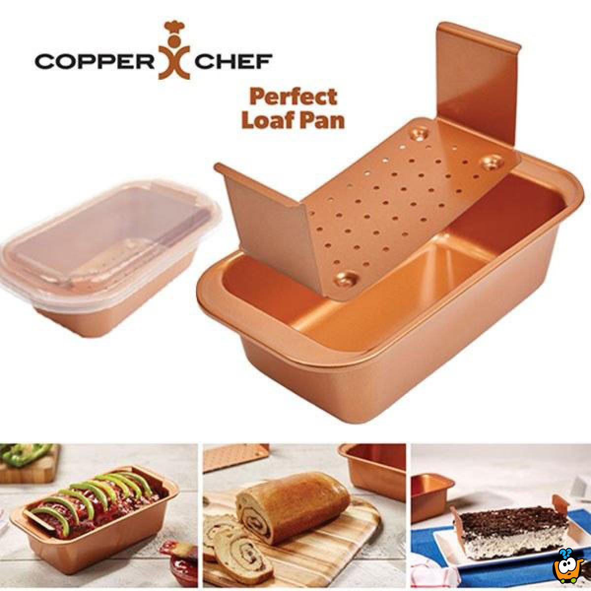 Copper Chef - 3u1 multifunkcionalni nelepljivi pleh sa dodacima