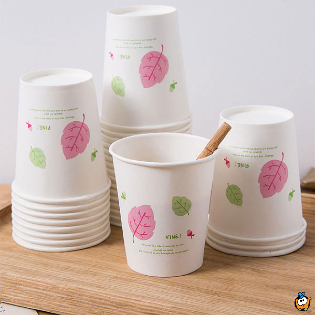 Jednokratne papirne čaše – pakovanje od 50 komada