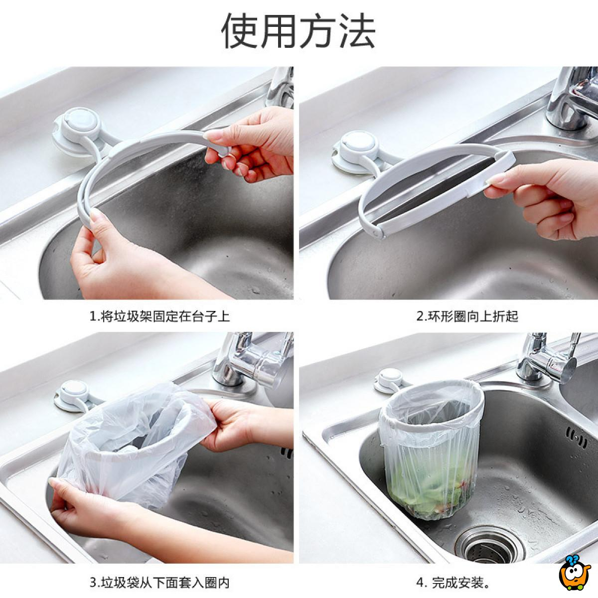 Univerzalni držač kesa za otpatke za sudoperu