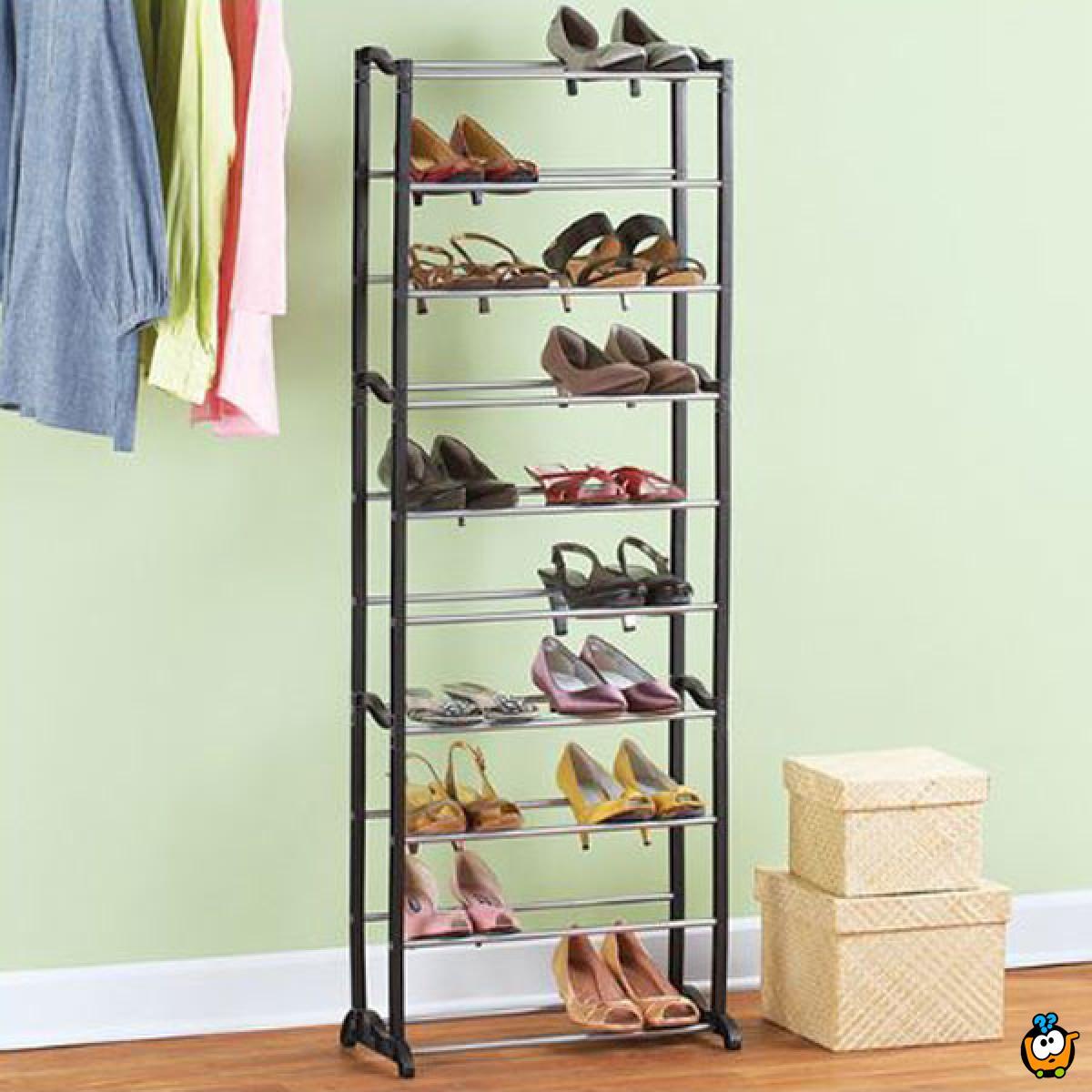 Jumbo shoe rack visoki cipelarnik na 10 nivoa