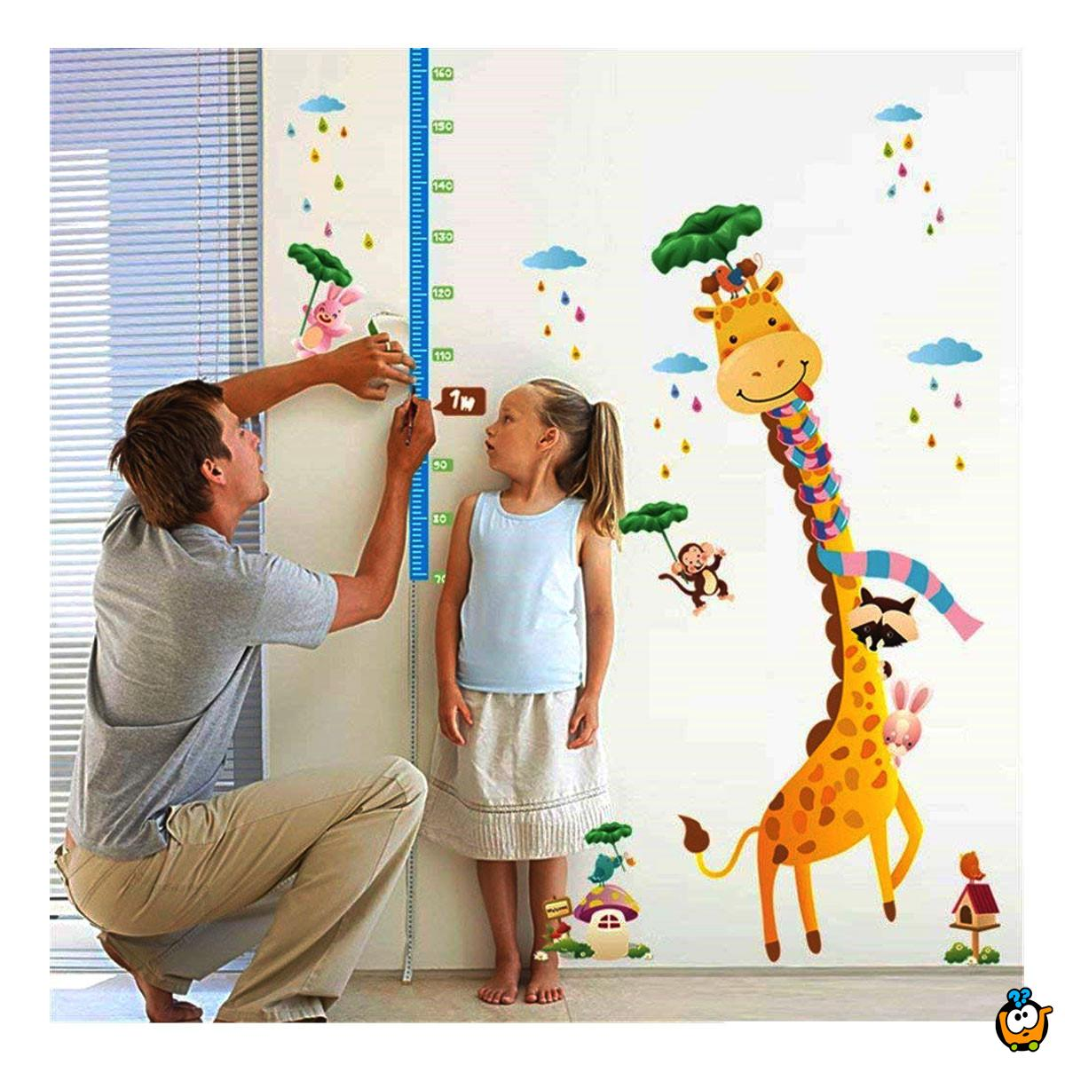 Visinometar za decu - 3D dekorativni stikeri za zid od EVA pene