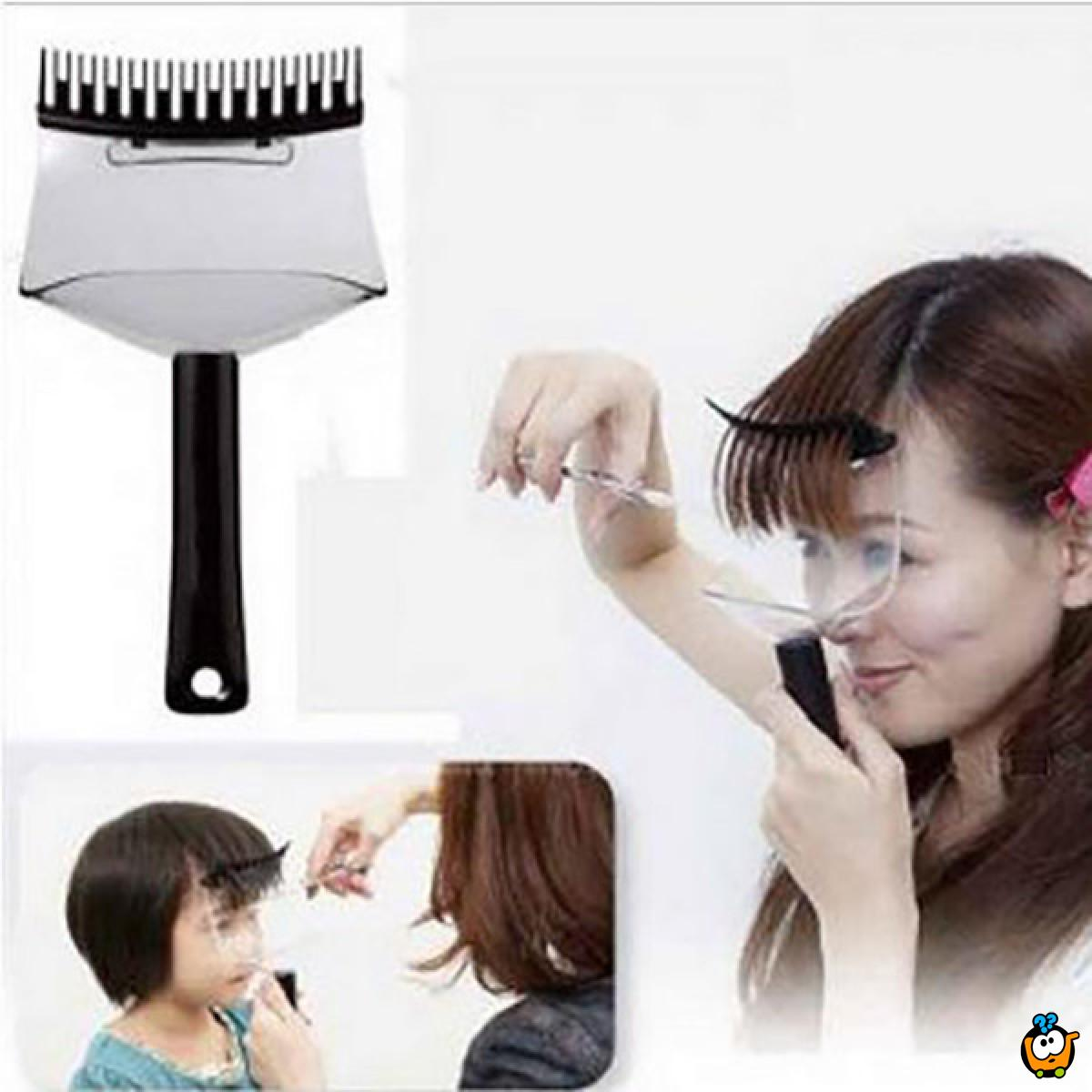 Prenosivi držač kose za lakše šišanje