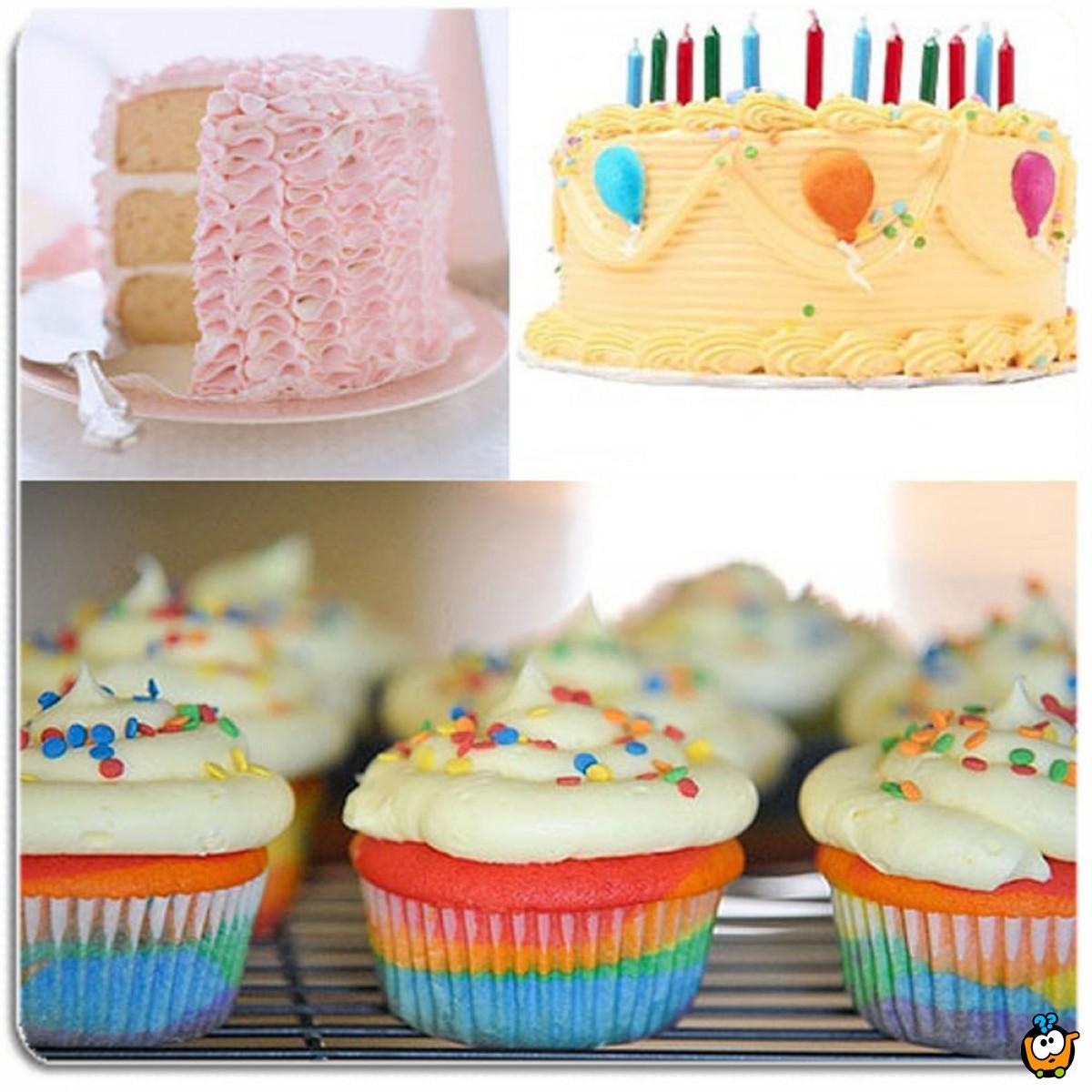 Set od 100 delova za ukrašavanje torti i kolača