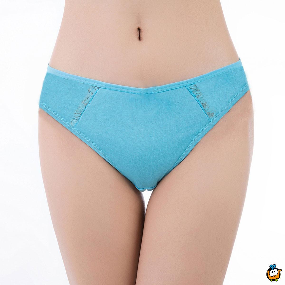 Ženske pamučne gaćice Plus Size Classic - siva boja